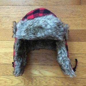 NWOT Buffalo Check Trapper Hat